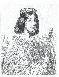 Saint Dagobert II, king of the Merovingers